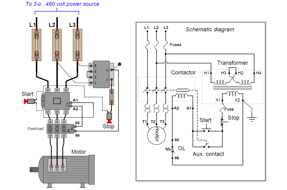 [WRG-4500] Simple Motor Control Wiring Diagrams