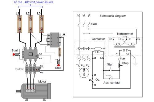 small resolution of basic electrical motor control circuit wiring diagram wiring