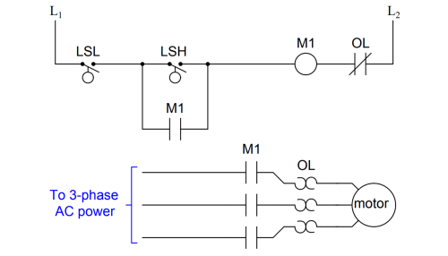 small resolution of simple motor start stop circuit