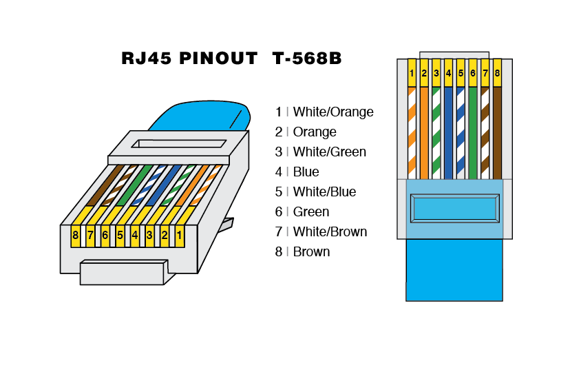 Ethernet Cable Wiring Diagram Gigabit