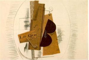 Violon et pipe (Le Quotidien) de  Georges Braque