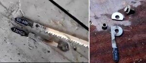Perubahan kanvas untuk elektrolovka di bawah adaptor untuk tiang tipis
