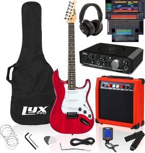 LyxPro 39-inch Electric Guitar Kit Bundle with 20w Amplifier
