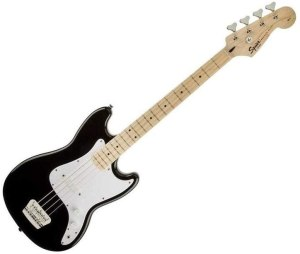 Squier by Fender Bronco Bass, Black with Maple Fingerboard