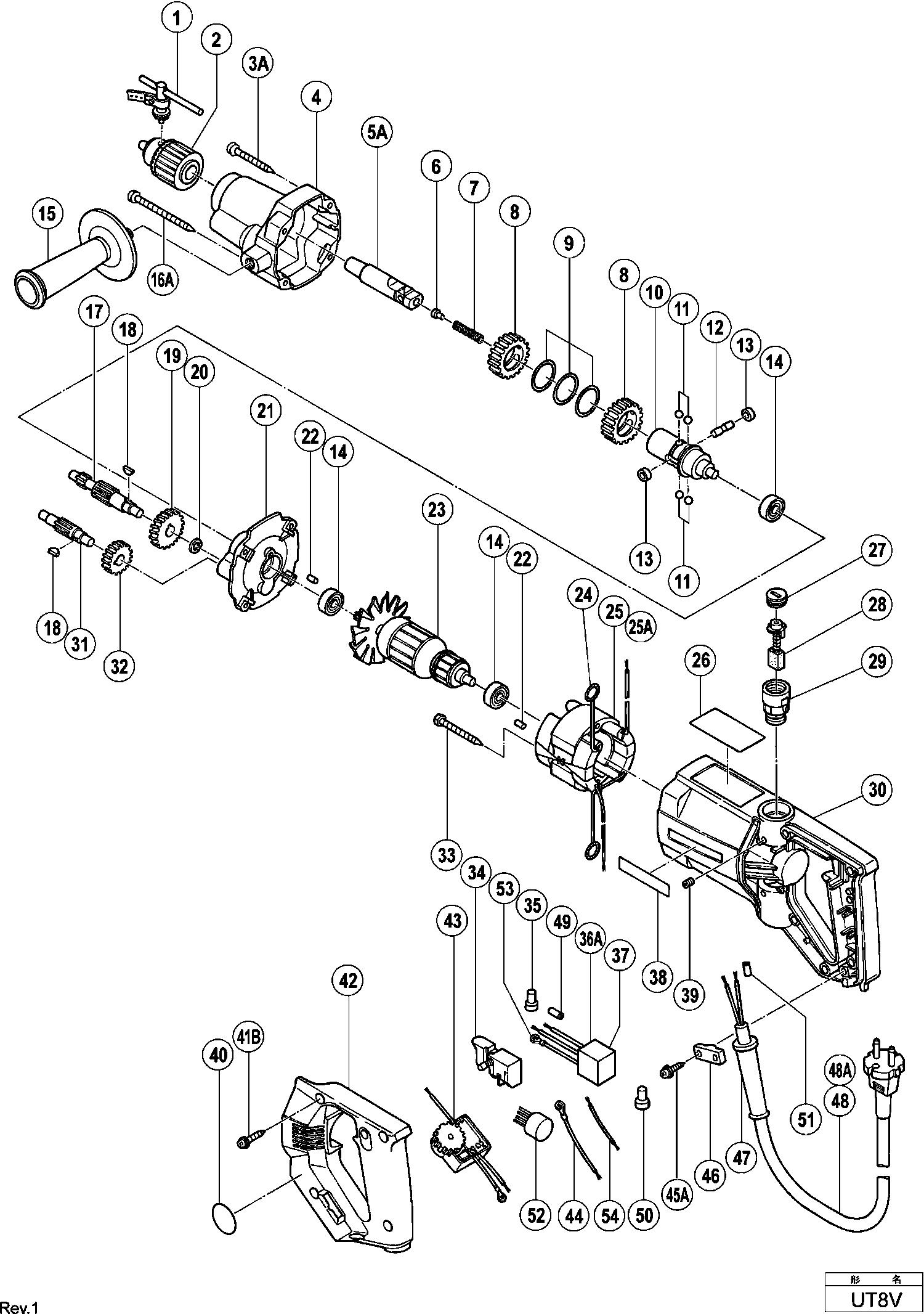 Схемы и деталировки запчастей для инструмента Hitachi