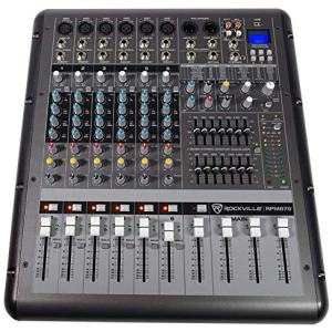 Rockville 8-Channel 6000w Powered Mixer, USB, Effects For Church/School