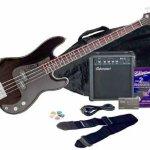 Silvertone LB11 Bass Guitar and Amp Package, Liquid Black