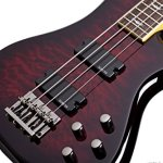 Schecter Stiletto Extreme-4 Bass Guitar (4 String, Black Cherry) 1