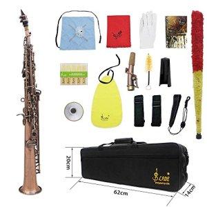 ammoon LADE Straight Bb Soprano Saxophone Sax Woodwind Instrument