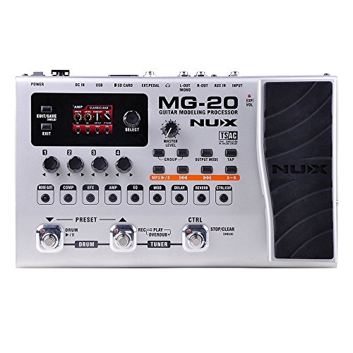 NUX Electric Guitar Multi-effects Processor with Drum machine