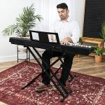 Best Choice Products 88-Key Full Size Digital Piano Electronic Keyboard Set w/Semi-Weighted Keys, Stand, Sustain Pedal, Built-In Speakers, Power Supply, 6 Voice Settings 1