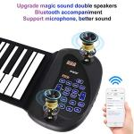 Portable Flexible Electronic 61-Key piano – ANDSF [2019 Upgraded Version ] double loudspeaker with Bluetooth microphone music keyboard piano built-in rechargeable battery for beginners gift 1