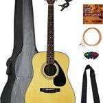 Yamaha Dreadnought Acoustic Guitar Bundle with Gig Bag