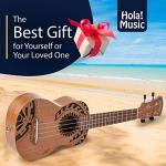 Hola! Music HM-121TT+ Laser Engraved Mahogany Soprano Ukulele Bundle with Aquila Strings, Padded Gig Bag, Strap and Picks – Tribal Tattoo 3
