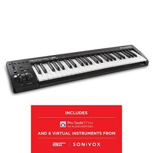 M Audio Keystation   Compact Semi Weighted 49 Key MIDI Keyboard Controller