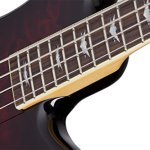 Schecter Stiletto Extreme-4 Bass Guitar (4 String, Black Cherry) 2