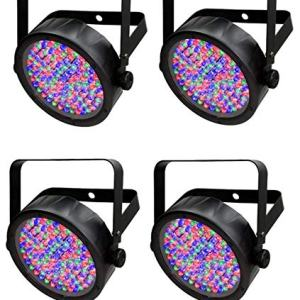 (4) Chauvet SlimPar 56 LED Slim Par Can Stage Pro DJ Lighting Effects