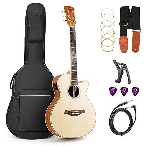 Acoustic Guitar, Cutaway Acoustic Guitar Electric 36 Inch