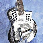 Imperial Royall Trifecta Engraved Tricone Cutaway Brass Body Resonator Guitar 1