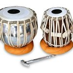 TABLA DRUM SET, Queen Brass PROFESSIONAL QUALITY IRON TABLA DRUM SET, IRON BAYAN SHEESHAM WOOD DAYAN TABLA, GREAT SOUND WITH TUNNIG HAMMER, CUSHIONA & COVER