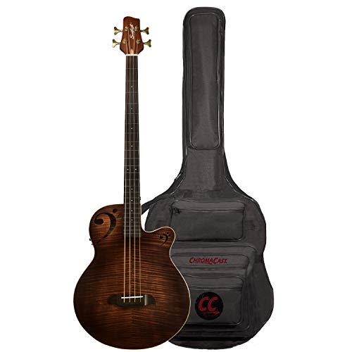 Sawtooth Rudy Sarzo Signature Fretless Acoustic-Electric Bass Guitar