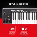 M Audio Keystation 49 MK3 | Compact Semi Weighted 49 Key MIDI Keyboard Controller with Assignable Controls, Pitch / Modulation Wheels and Software Production Suite included USB Powered 3