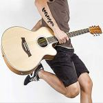 Acoustic Guitar, Cutaway Acoustic Guitar Electric 36 Inch 3/4 Acoustic Guitars Beginner Kit with Guitar Extra Strings Strap Capo Picks Cable Gig Bag, by Vangoa 1
