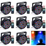 DJ Lights, KOOT 36 X 1W RGB Stage Disco Uplighting Package Sound