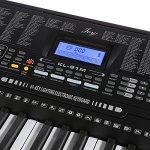 Joy 61-Key Lighting Keyboard with USB Music Player Function, Including Headphone, Stand & Stool (Kl-91MKit) 3