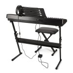 RockJam RJ761 61 Key Electronic Interactive Teaching Piano Keyboard with Stand, Stool, Sustain Pedal and Headphones (RJ761-SK) 2