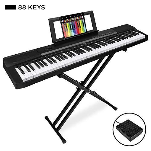 Best Choice Products 88-Key Full Size Digital Piano Electronic Keyboard Set
