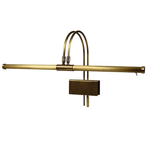 Cocoweb LED Grand Piano Lamp, Antique Brass