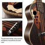23-inch Hawaii ukulele rosewood professional concert Ukulele send tuner trim folder thick piano bag 2