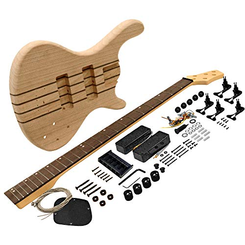 Seismic Audio - Premium Modern Style 5 String Bass Electric