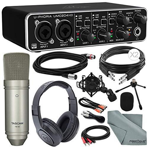 Behringer U-PHORIA USB 2.0 Audio/MIDI Interface and Platinum Bundle