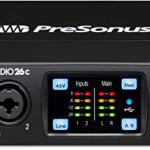 PreSonus Studio 26c 2×4, 192 kHz, USB-C Audio Interface, 2 Mic Pres-4 Line Outs 3