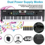 61 Keys Keyboard Piano, Electronic Digital Piano with Built-In Speaker, Microphone, Sheet Stand and Power Supply, Portable Keyboard Gift Teaching Toy for Beginners (Kids & Adults) 3