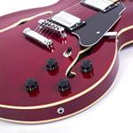 2019 New Product GROTE BRAND Semi Hollow Body Electric Guitar (Cherry red) 1