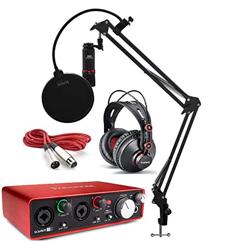 Focusrite Scarlett 2i2 Studio Audio Interface Recording Bundle