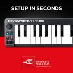 M Audio Keystation Mini 32 MK3 | Ultra Portable Mini USB MIDI Keyboard Controller With ProTools First | M Audio Edition and Xpand 2 by AIR Music Tech 3