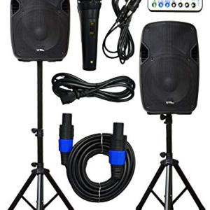 "2x Ignite Pro 12"" Pro Series Speaker DJ / PA System / Bluetooth Connectivity"