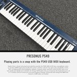 PreSonus PS49 USB 2.0 MIDI Keyboard with Presonus AudioBox USB 96 Audio Recording Interface, Studio One Artist 3 DAW Software for Mac & Windows, and Premium Music Creation Bundle 1