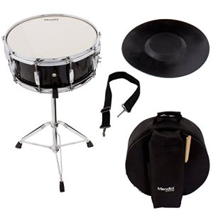 Mendini Student Snare Drum Set with Gig Bag, Sticks