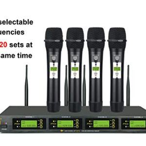 PRORECK UHF 4 Channel Wireless Microphone System