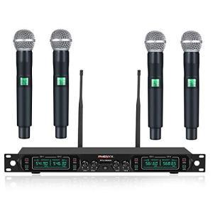 Wireless Microphone System, Phenyx Pro 4-Channel UHF Cordless Mic Set