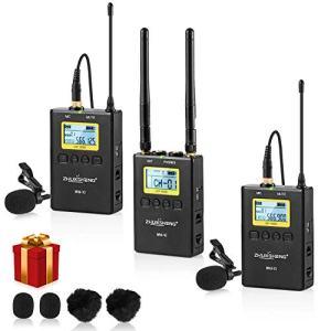 100 Channels Full Metal Wireless Lavalier Microphone System