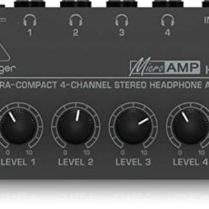 Behringer Microamp Ultra-Compact 4-Channel Stereo Headphone Amplifier