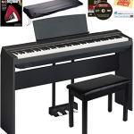 Yamaha P-125 Digital Piano - Black Bundle with Yamaha L-125 Stand