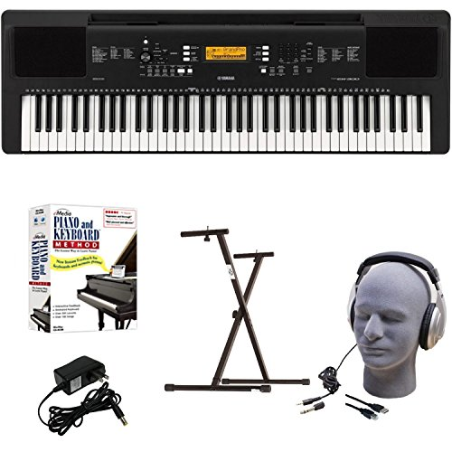 Yamaha EPY Educational Keyboard Pack with Power Supply, Bolt-On Stand