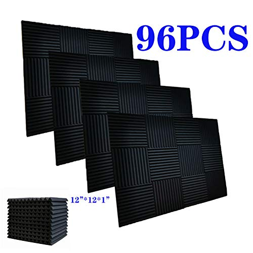 96 Pack Acoustic Panels Soundproof Foam for Walls Sound Absorbing Panels